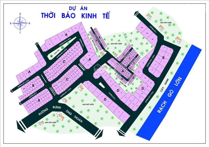 Kẹt tiền bán gấp lô E 2 mặt tiền đường dự án Thời Báo Kinh Tế, Bưng Ông Thoàn, Phú Hữu, Quận 9 ảnh 0