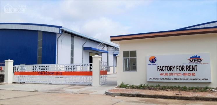 Cho thuê nhà xưởng tại KCN Thái Hòa, Đức Hòa - Long An