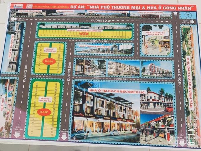 Mở bán dự án mới lok D10C nhà phố thương mại Vsip 2 mở rộng, Vĩnh Tân, Bình Dương ảnh 0
