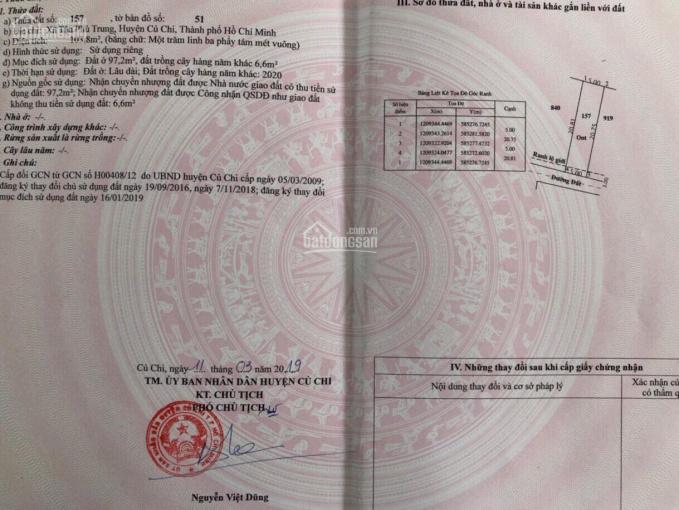 104m2 thổ cư, sổ hồng riêng, cách BV Xuyên Á 1km, đường 92, giá 1,35 tỷ ảnh 0