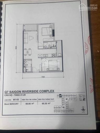 Bán căn hộ gần trường Đài Bắc Q7 52m2, 2PN, 1,65 tỷ ảnh 0