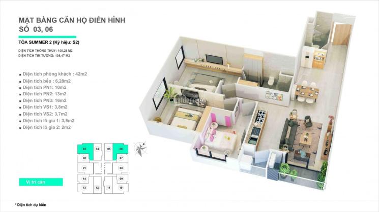 Chuyển công tác cần bán gấp căn 3 PN, DT 110m2 chung cư 47 Nguyễn Tuân giá 3.8 tỷ. LH 0966348068 ảnh 0