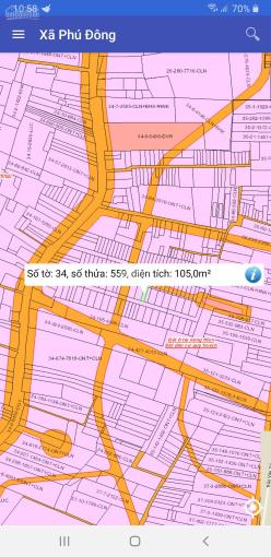 Bán đất xã Phú Đông, MT đường nhựa 7m, có 1 phần thổ cư, sổ hồng riêng ảnh 0