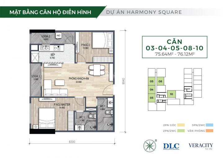 Mở bán đợt đầu dự án Harmony Square, căn 2PN full nội thất chỉ 2,8 tỷ. NH hỗ trợ LS 0% tới 12 tháng ảnh 0