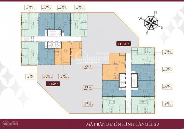 Do không có nhu cầu sử dụng nên tôi muốn bán căn hộ 111,8m2 - Tầng trung - Tòa A - Giá 4 tỷ ảnh 0