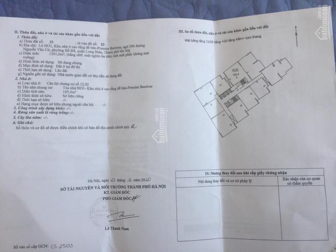 Cần bán căn hộ lô N01 Premier Berriver, Nguyễn Văn Cừ, Long Biên, giá siêu hấp dẫn Lh 0979015742 ảnh 0