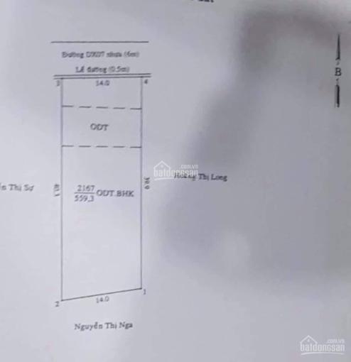 Bán đất mặt tiền 14*40m, đường DX 007, Phú Mỹ ảnh 0