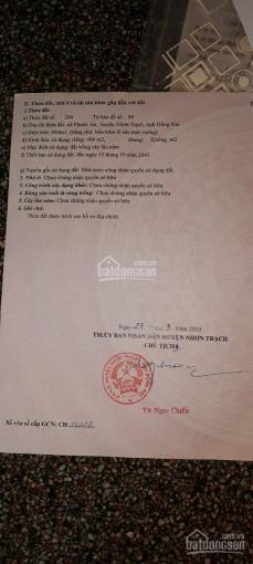 Cần bán lô đất 406m2 gần đường Hùng Vương, xã Phước An, Nhơn Trạch, Đồng Nai, LH Mr Thế 0932199024 ảnh 0