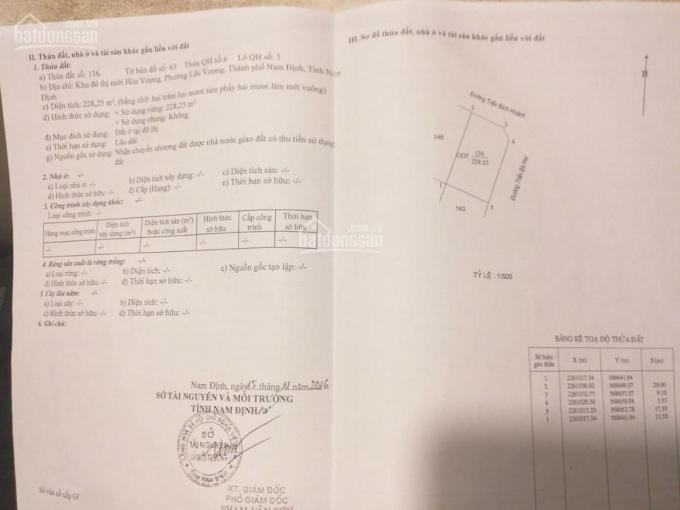 Bán đất biệt thự lô góc đường Trần Bích Hoành, khu đô thị Hòa Vượng, thành phố Nam Định ảnh 0