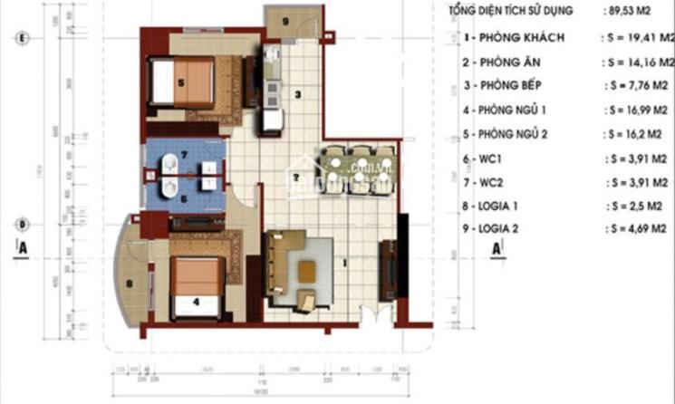 Chung cư Riverside Tower - 79 Thanh Đàm bán cắt lỗ căn góc T5 tặng gói làm nội thất ảnh 0