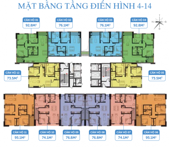 Bán CHCC Smile Building tầng, 2001 - 93m2, sổ hồng chính chủ, LH 0966292726 ảnh 0