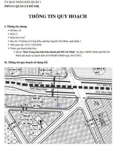 Đất trống 61m2 tiện xây mới Lê Công Kiều, phường Nguyễn Thái Bình, quận 1. LH 0901194345 ảnh 0