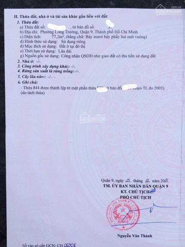 Bán lô góc 2 mặt tiền Trường Lưu, Quận 9, SHR, trả trước 2 tỷ050 triệu ảnh 0