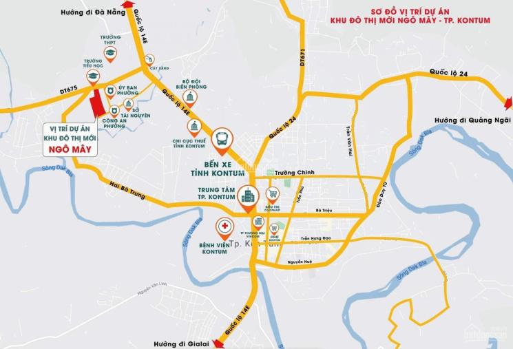 Chỉ 380tr sở hữu ngay lô đất phường Ngô Mây, TP Kon Tum ảnh 0