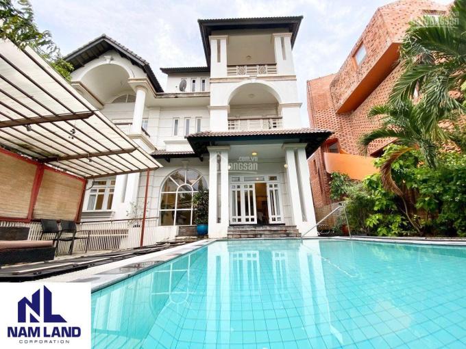 Cho thuê biệt thự sân vườn hồ bơi 610m2 gần sông Sài Gòn đường 23, Bình An, Quận 2 ảnh 0