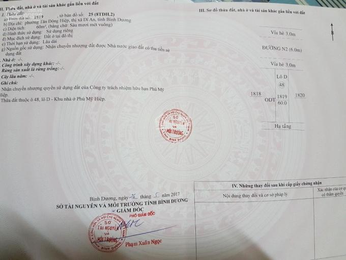 Chính chủ bán lô D48, khu dân cư Phú Mỹ Hiệp, LH 0932 084 684 ảnh 0