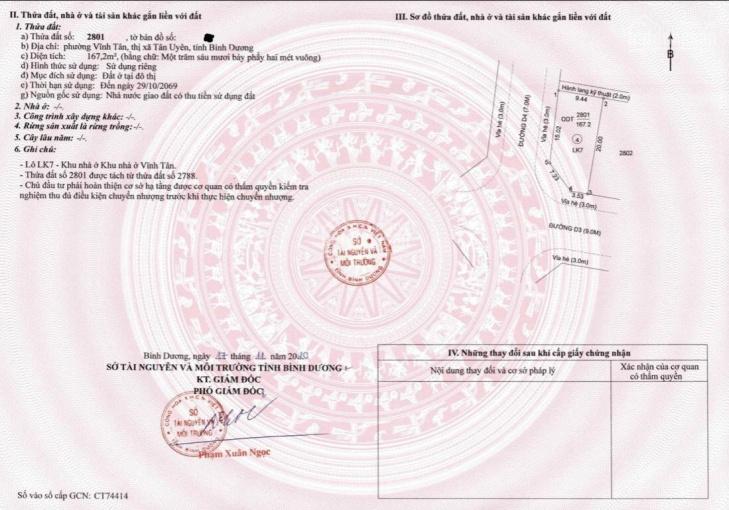 Kẹt tiền cần bán gấp lô đất mặt tiền đường ĐT 742 Phường Vĩnh Tân, 70m2, giá 750 triệu, thổ cư 100% ảnh 0