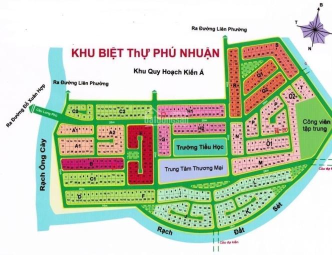 Bán lô biệt thự giá tốt dự án Phú Nhuận, Quận 9, lô B, hướng Đông Nam, giá 59 tr/m2 ảnh 0