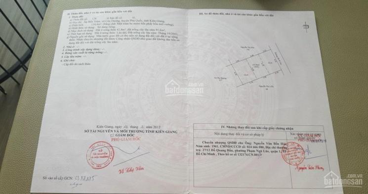Nền Phú Quốc 134m2 8x15m có sẵn 42m2 thổ cư giá tốt cho anh em đầu tư còn 4 nền thiện chí cọc nhanh ảnh 0