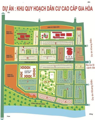 Công ty cần thanh lí đất KDC Gia Hòa, Q9, có sổ vay ngân hàng, đường 12m TT 2.5 tỷ, 0937343824 ảnh 0