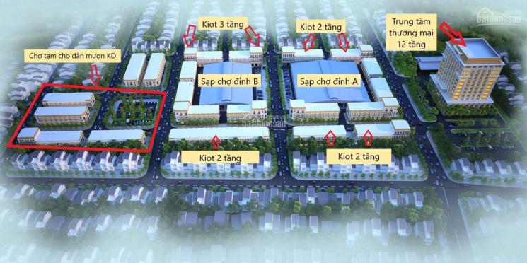 Mở bán chính thức đợt 1 hơn 100 sản phẩm kiot 1 tầng, 2 tầng, 3 tầng dự án Chợ Tiên Lữ ảnh 0