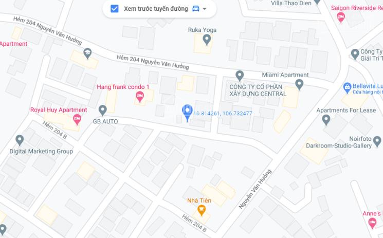 Cho thuê đất Nguyễn Văn Hưởng 400m2 Phường Thảo Điền, Quận 2, 55tr/tháng