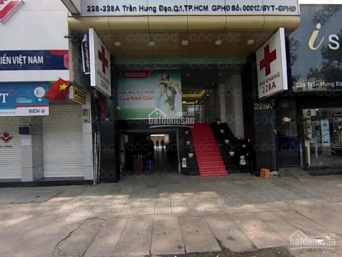 Cho thuê tòa 228-228A Trần Hưng Đạo, Q.1, 11x22m, 1 hầm 9 lầu, DTSD: 2.500m2, giá 300 triệu/tháng ảnh 0