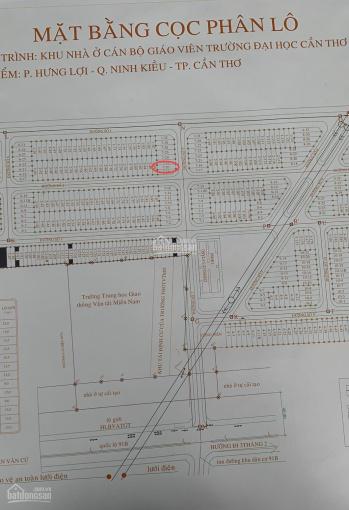 Bán nền trục chính KDC CBGV ĐHCT, đường thông xuống bờ Hồ Bún Xáng, phường An Khánh ảnh 0