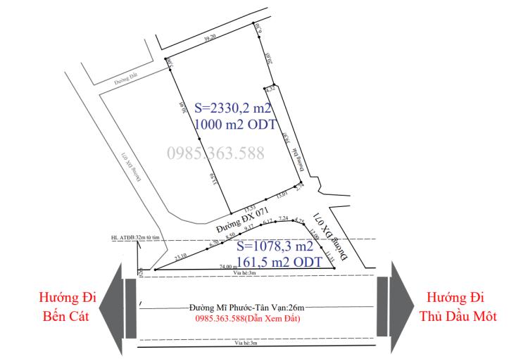 Bán bãi xe công 3400m2 mặt tiền Mỹ Phước - Tân Vạn, đối diện bệnh viện 1500 giường ảnh 0