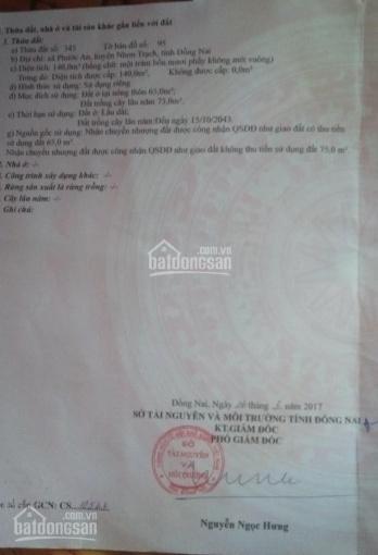 Bán đất dự án XDHN, HUD và Ecosun, đất dân tại huyện Nhơn Trạch ảnh 0