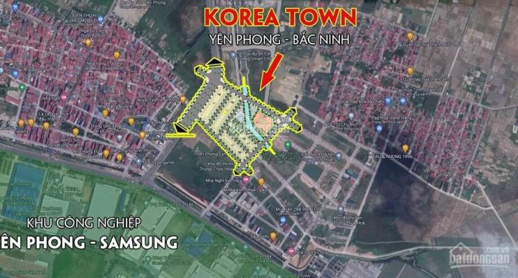Dự án shop TMDV Korea Town - Samsung lợi nhuận không dưới 450tr/năm, không có lô xấu, từ 13tr/m2 ảnh 0