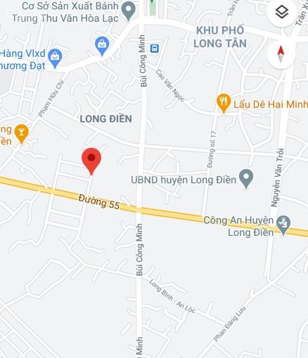 Bán 100m2, 6.3x17m đường nhựa 15m, ra Quốc lộ 55 khoảng 100m, thị trấn Long Điền, H Long Điền, BRVT ảnh 0