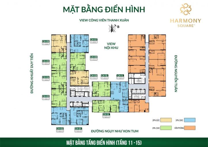 Bán căn hộ 2PN Harmony Square, Nguyễn Tuân giá chỉ 2,9 tỷ/77m2, chiết khấu 3%, tặng ngay 15 triệu ảnh 0