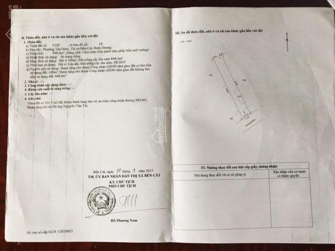 Chính chủ cần bán 948m2 đất mặt tiền đường nhựa DH601, KP2, Tân Định. LH: 0948991115 anh Thiện ảnh 0