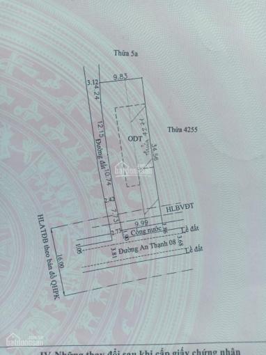 Bán gấp đầu năm đất TP Thuận An, đường An Thạnh 08, giảm giá còn 18 triệu/m2. Liên hệ: 0937.253.268 ảnh 0