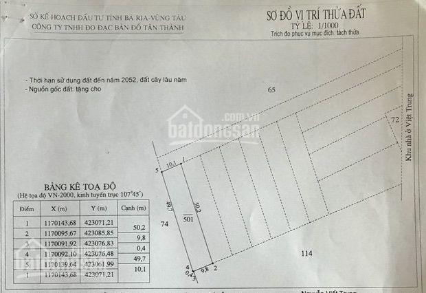 Bán đất phía sau UBND TX Phú Mỹ giá chỉ 7 triệu/m2,  LH chính chủ 0913646646 ảnh 0