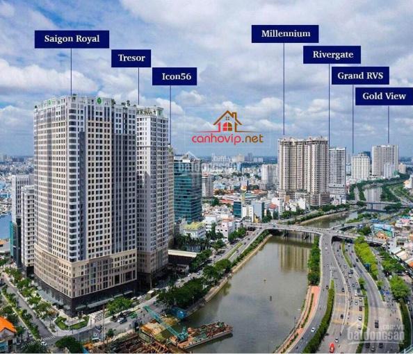 Bán shophouse mặt tiền Bến Vân Đồn dự án Saigon Royal có HĐ thuê 160 tr/th, LH 0934111577 ảnh 0