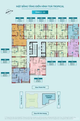 Chính chủ cần chuyển nhượng căn hộ 11 - 75m2, tòa Tropical - Feliz Homes Đền Lừ ảnh 0