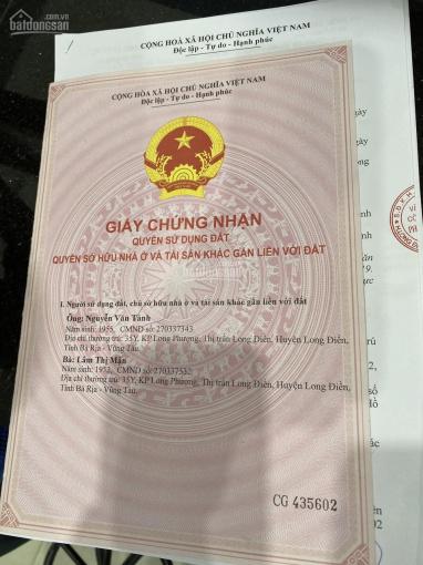 Bán đất biệt thự đường Trần Hưng Đạo, Long Điền, TP. Bà Rịa Vũng Tàu, chỉ 2tỷ 300tr ảnh 0
