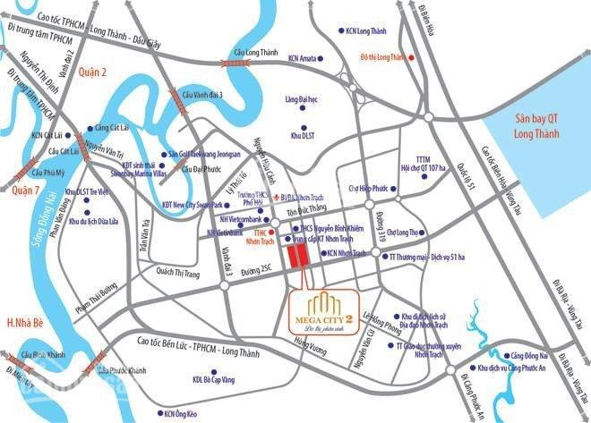 Đất Nhơn Trạch, mặt tiền đường 25C, kết nối trực tiếp sân bay Long Thành ảnh 0
