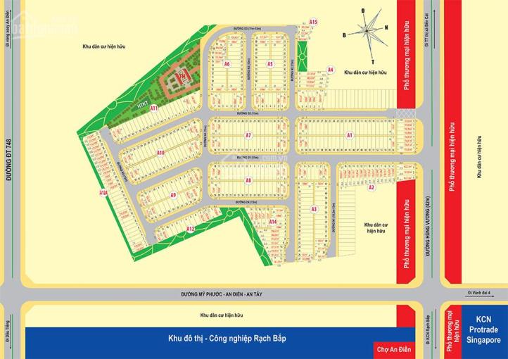 Đất nền sổ đỏ dự án Bến Cát Center City 2 An Điền đầu tư sinh lời giá tốt cho nhà đầu tư ảnh 0