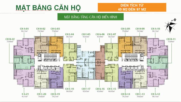 Chủ nhà bán nhanh chung cư Eco Dream, tầng 12 - 20, DT: 78m2, BC ĐN, giá 2,1 tỷ, Lh: 0916.419.028 ảnh 0