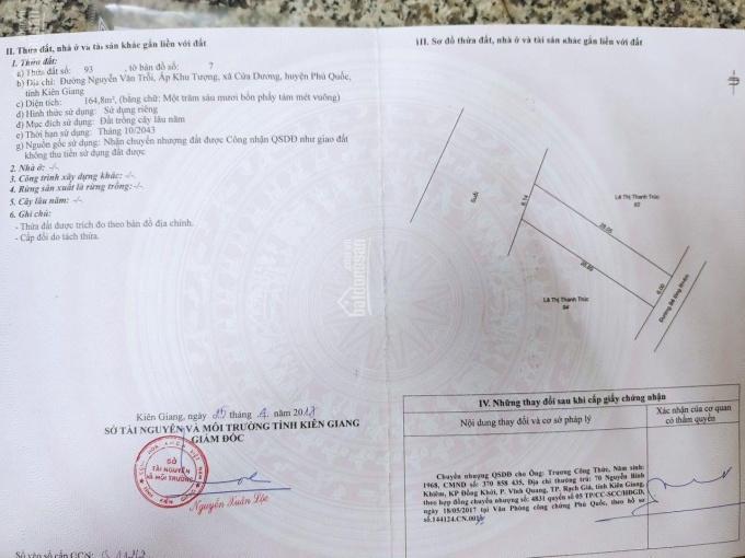 Bán lô đất 6x28m ở đường Ba Trại, Phú Quốc, sổ Hồng riêng, LH 0909.074.779 ảnh 0