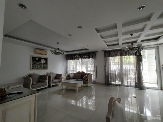 Biệt thự khu An Phú An Khánh, 10x20m, hầm trệt 2 lầu, hồ bơi-full nội thất. Gía thuê chỉ 45tr/th ảnh 0