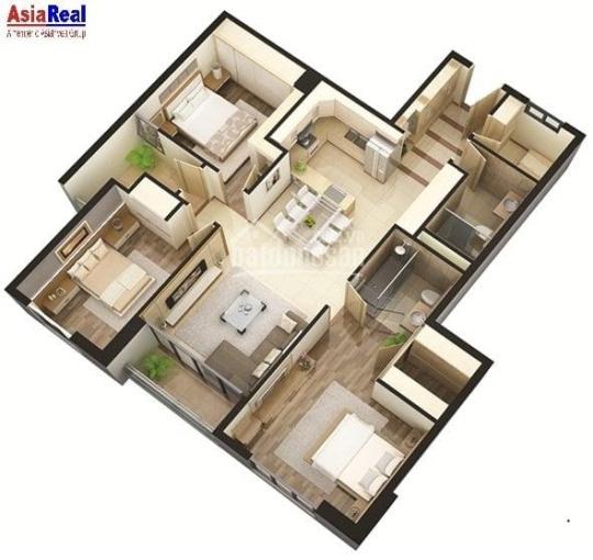 Chính chủ gửi bán căn hộ tầng thấp 128m2 tòa CT2B Xuân Mai Tô Hiệu Hà Đông, giá 21tr/m2 ảnh 0