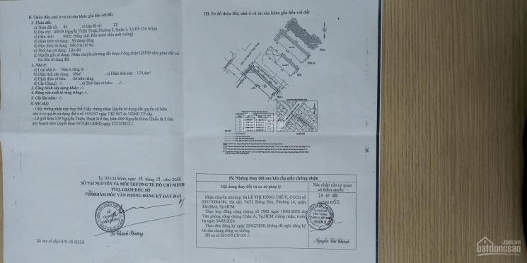 Bán nhà riêng góc 2 mặt hẻm Nguyễn Thiện Thuật - Nguyễn Đình Chiểu, P2, Quận 3 - LH A. Tân ảnh 0