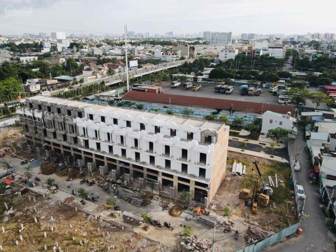 Nhà mới xây Q. 12 khu mặt tiền Hà Huy Giáp, 1 trệt 3 lầu, công viên trước nhà, sổ riêng công chứng ảnh 0