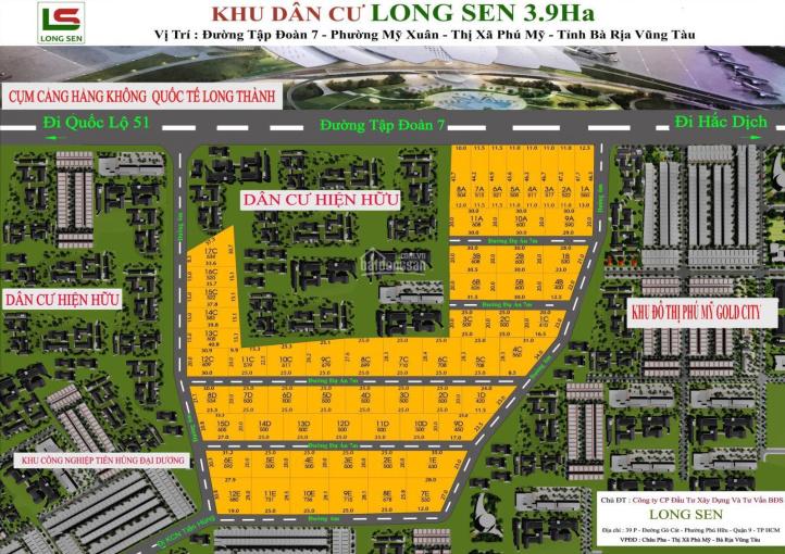 Định cư Mỹ bán lô đất MT đường lớn 32m (Tập Đoàn 7), kế khu đô thị, sổ hồng riêng ảnh 0