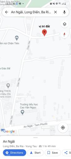 Bán lô đất An Ngãi, huyện Long Điền, khu dân cư đông đúc, ô tô vào tới tận đất, đất vuông vức ảnh 0