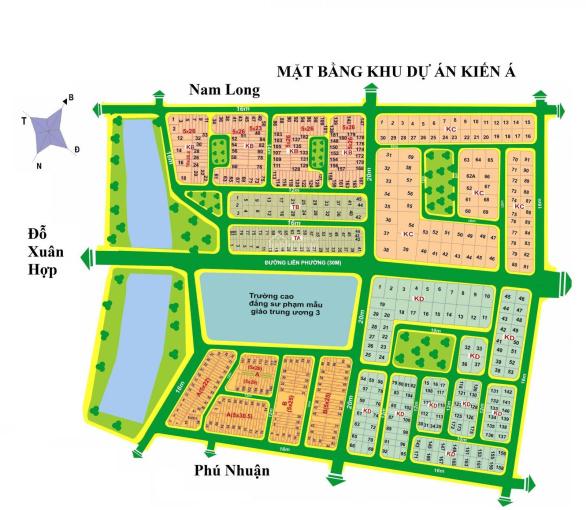 Bán Lô nhà Phố KDC Kiến Á, DT 5x27m, giá 66tr/m2 ảnh 0